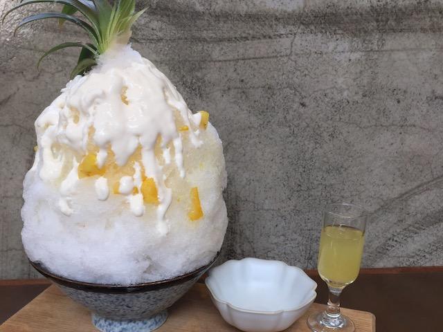 冰田ガリガリ マンゴーかき氷だけじゃない?インスタ映え抜群 話題のパイナップルかき氷!