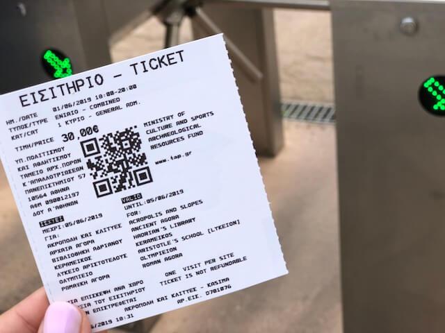 パルテノン神殿 チケットの買い方