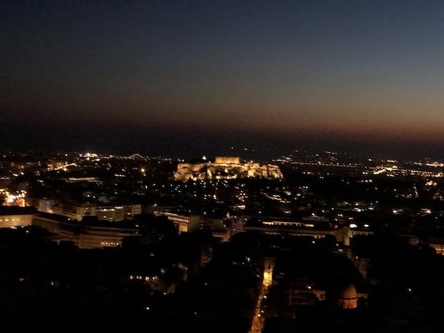 パルテノン神殿が見れる丘
